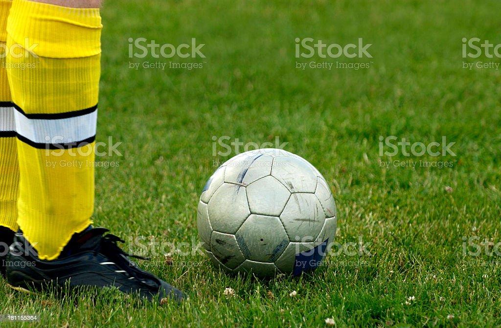 kick the ball III stock photo
