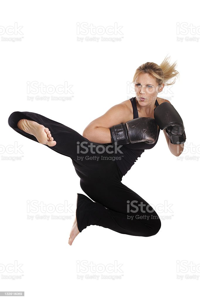 Kickboxer royalty-free stock photo