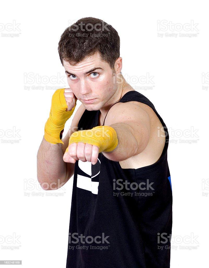 Kickboxer royalty-free stock photo