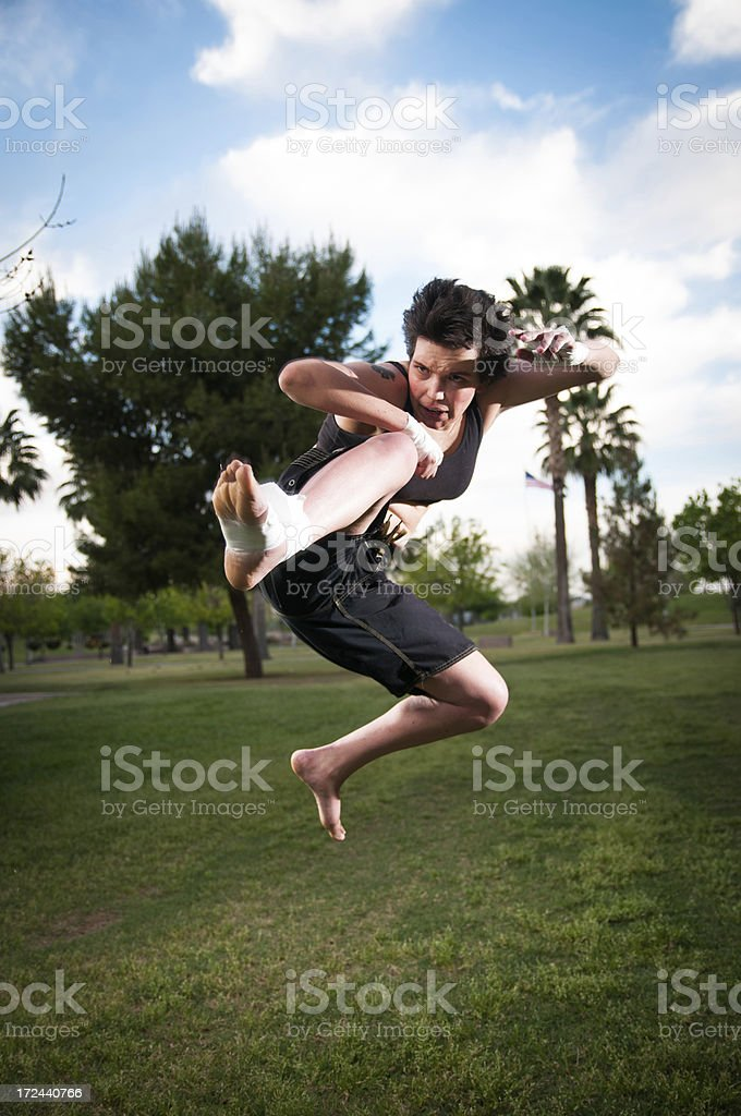 kickboxer woman royalty-free stock photo