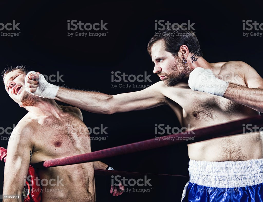 Kickboxing Match royalty-free stock photo