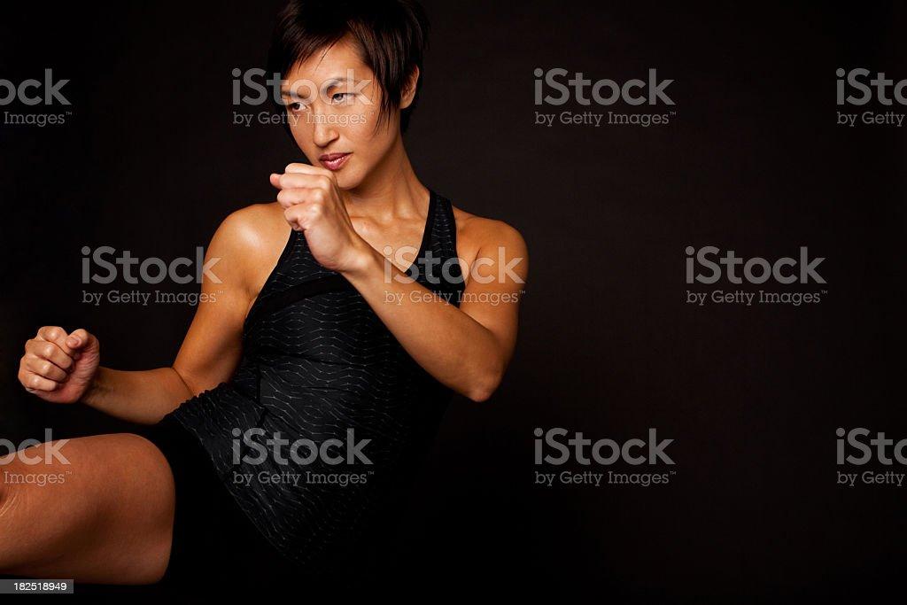Kickboxing royalty-free stock photo