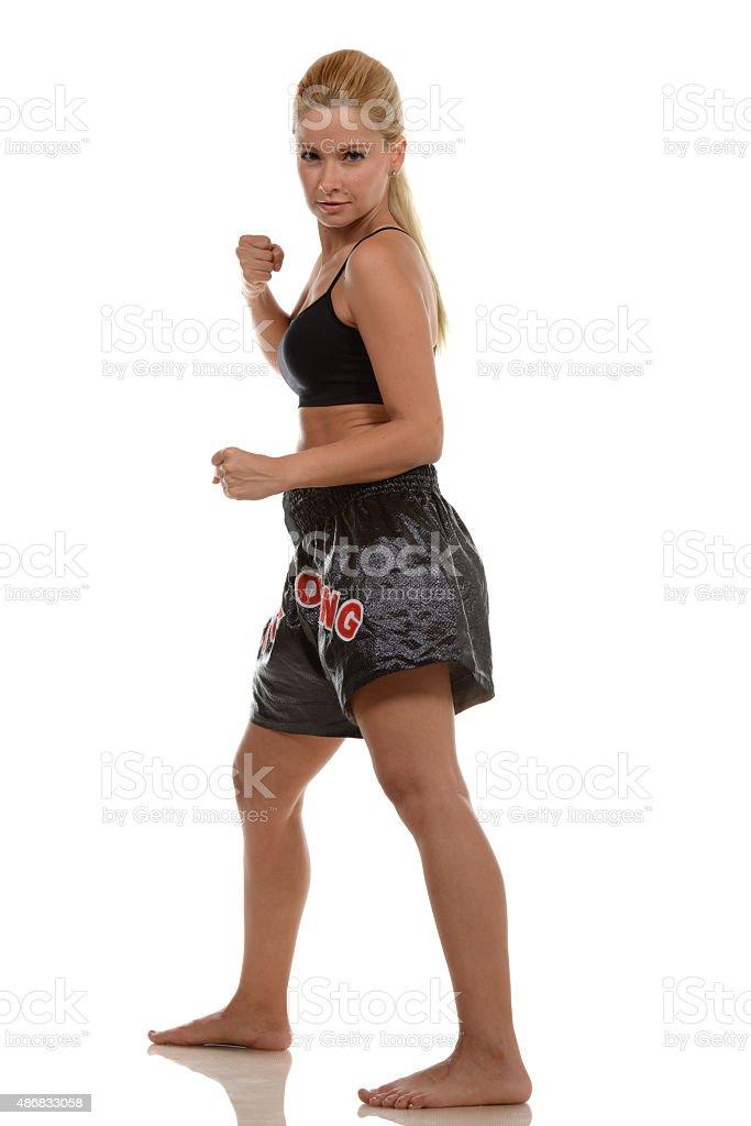 Kickbox Ready stock photo