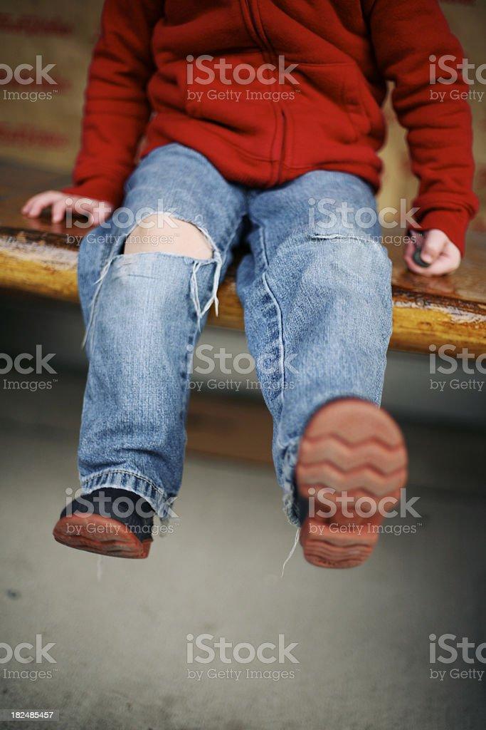 Kickin' It stock photo