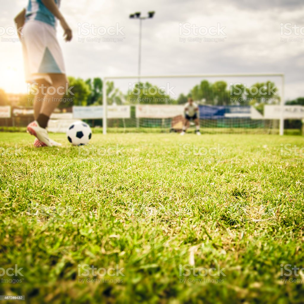 Kicking A Penalty stock photo