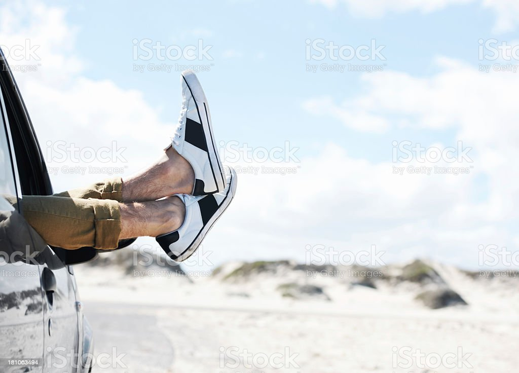 Kicking back and taking it easy... stock photo