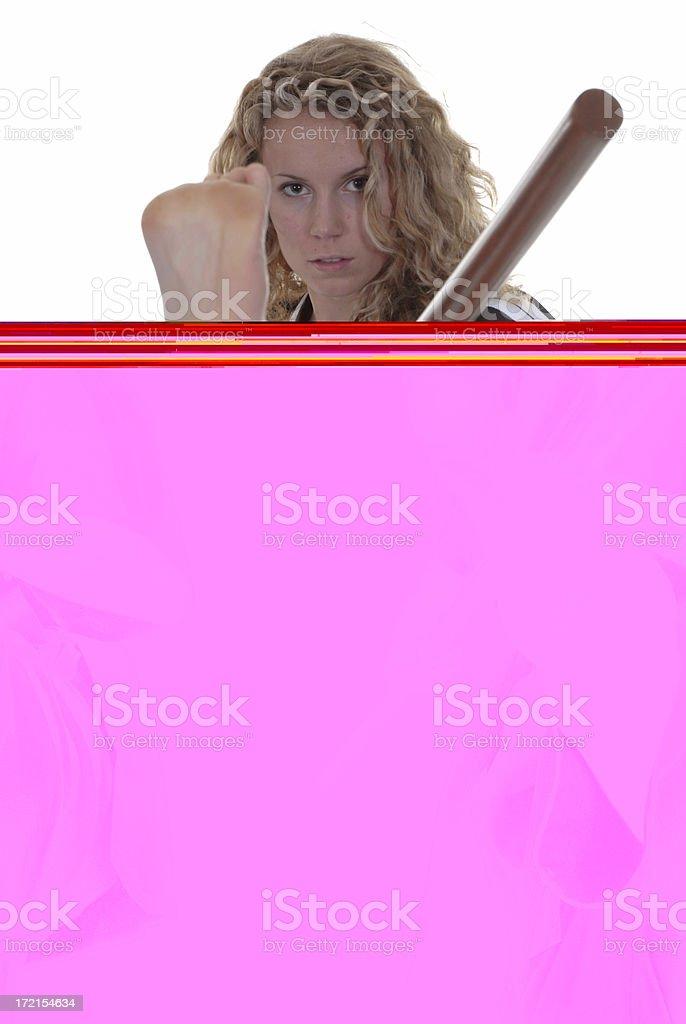 Kicking bo staff royalty-free stock photo