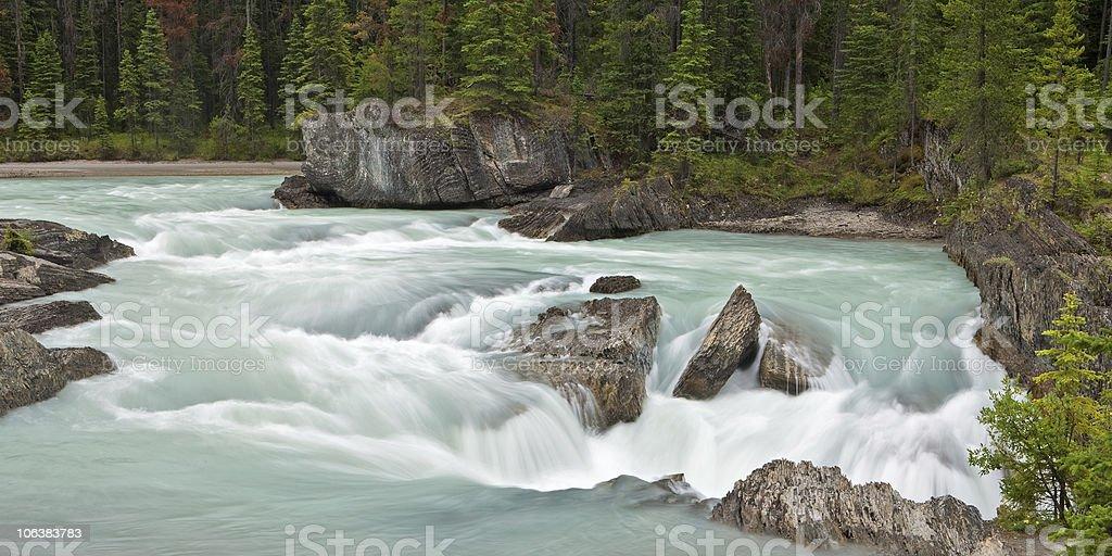 Kicking Horse River at Natural Bridge stock photo