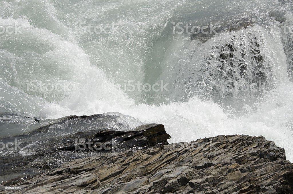 Kicking Horse River close-up stock photo