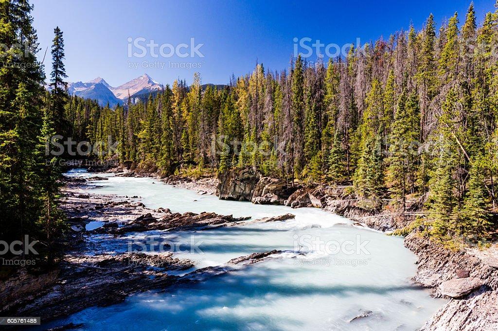 Kicking Horse River, Yoho National Park, Alberta, Canada stock photo
