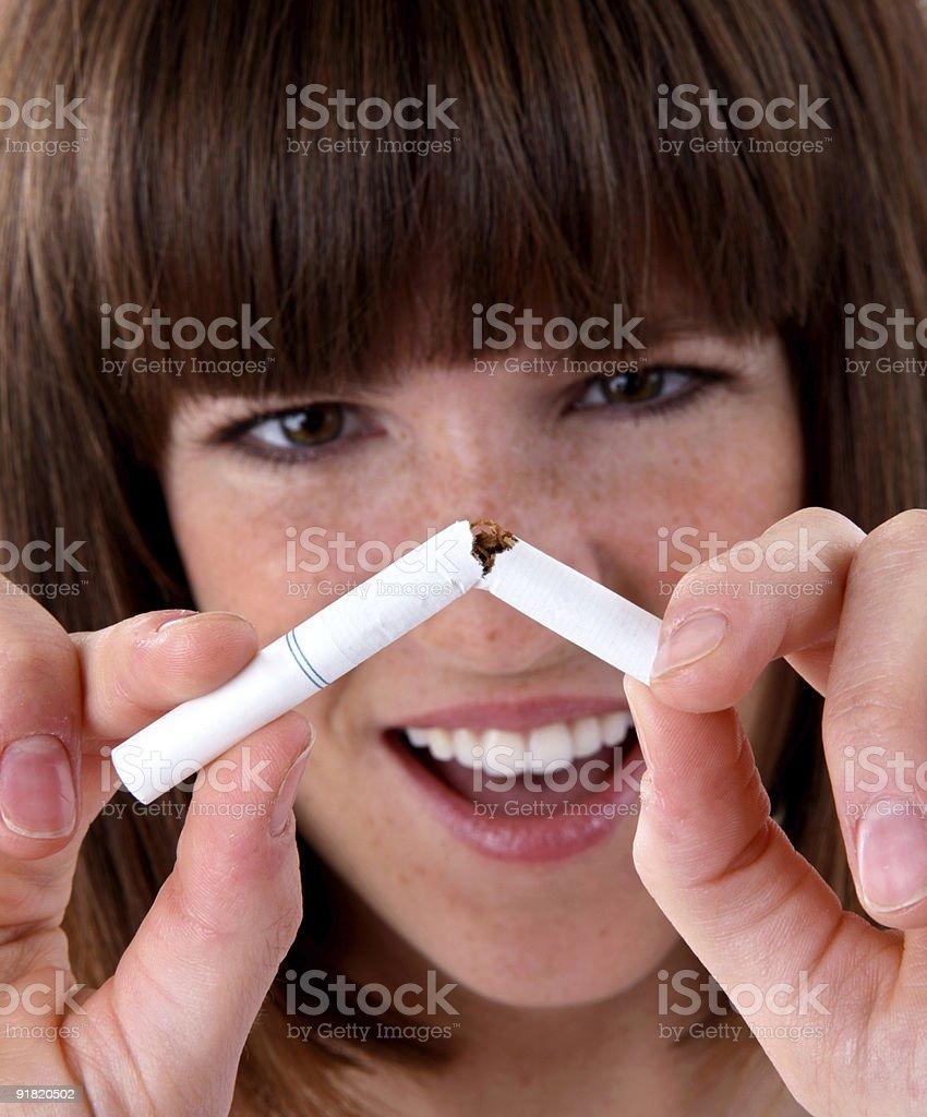 Kicking the cigarette habit royalty-free stock photo