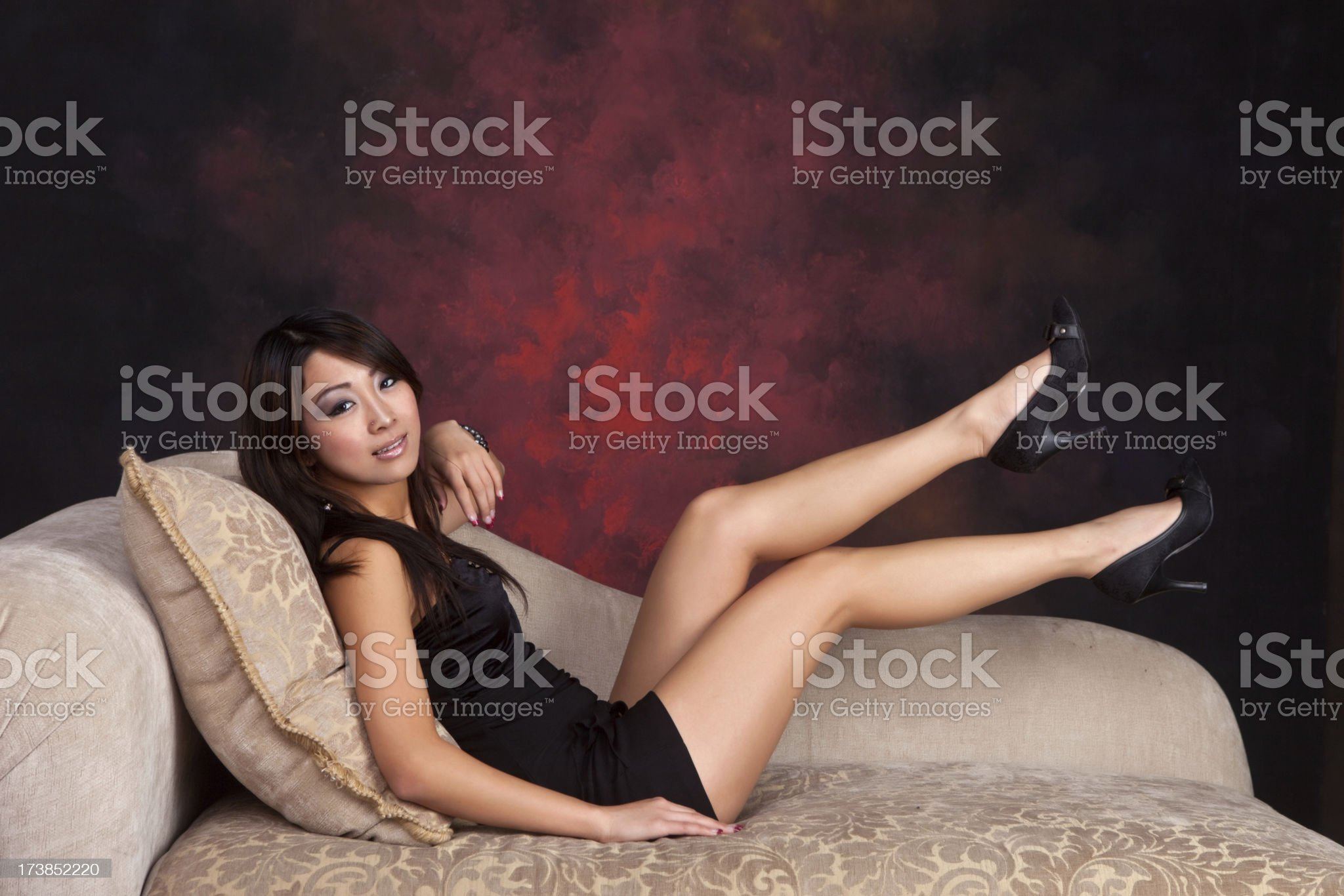 Kicking up her heels royalty-free stock photo