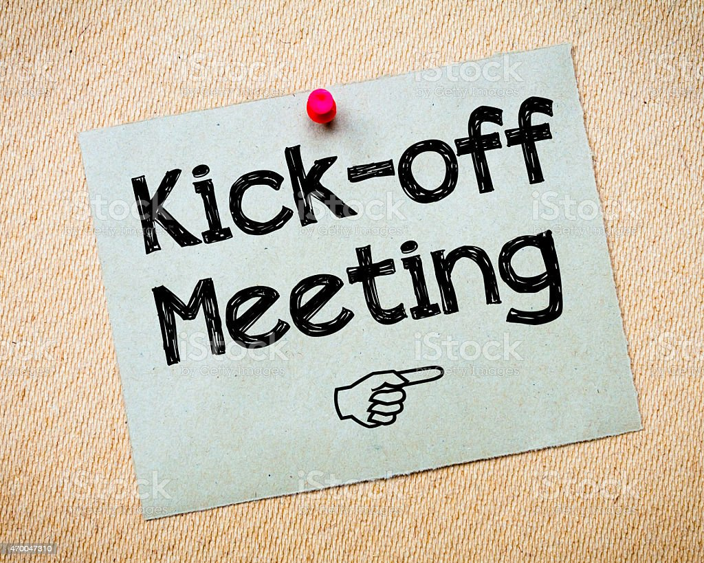 Kick-off meeting stock photo