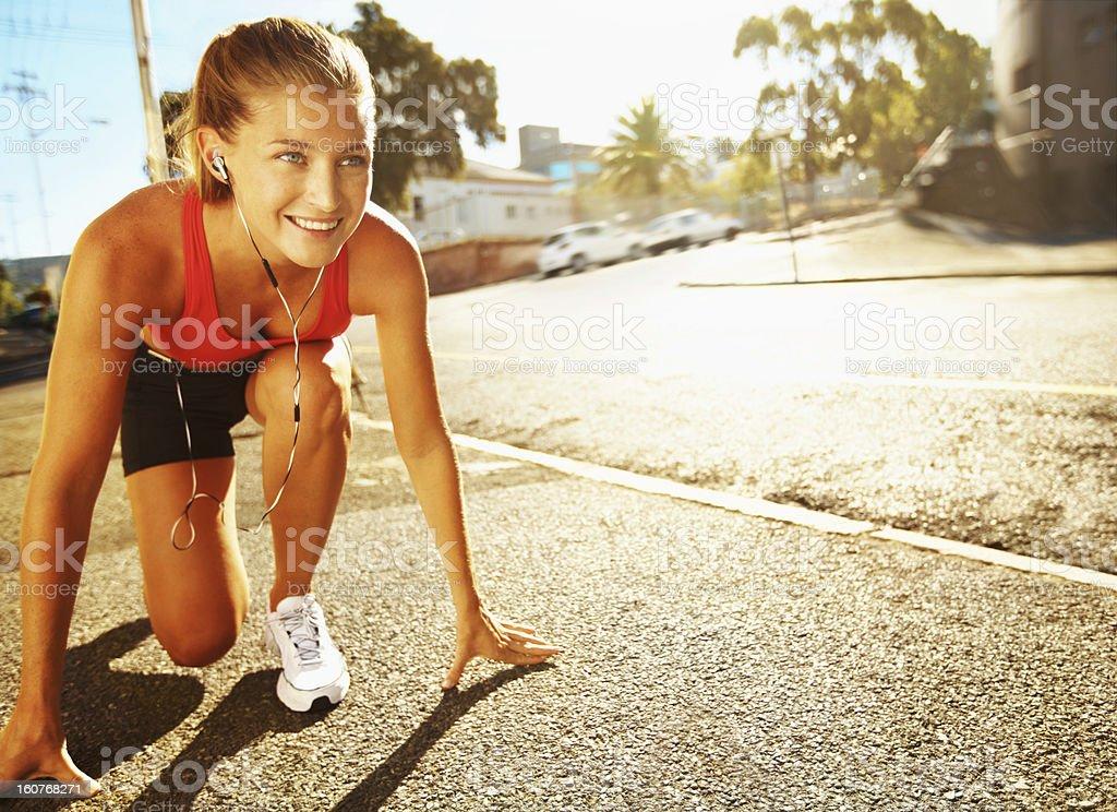 Kickstarting her metabolism in the morning royalty-free stock photo