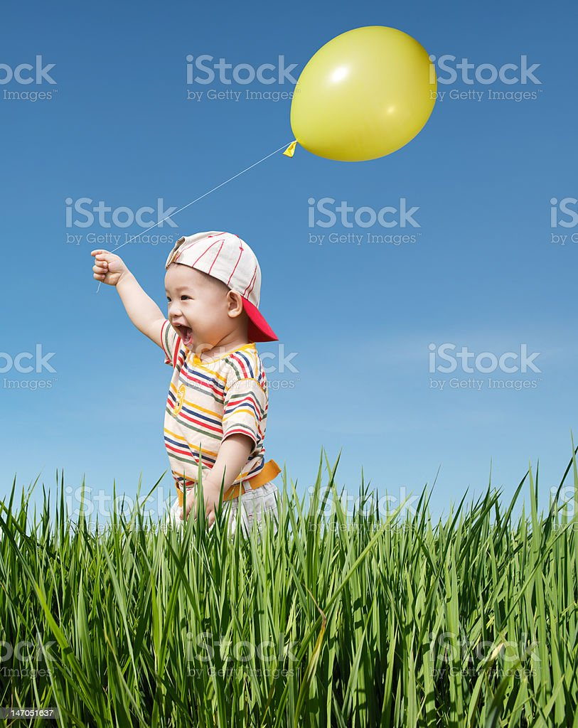 kid and balloon royalty-free stock photo