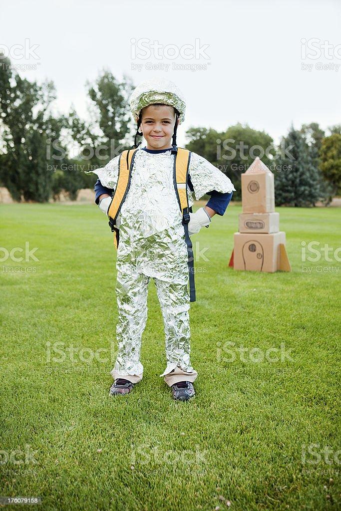 Kid Astronaut stock photo