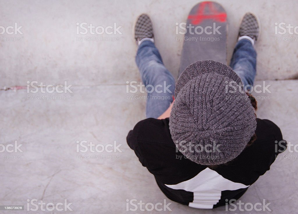 Kid Boy Skater Teen royalty-free stock photo
