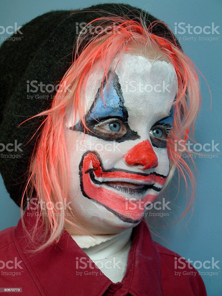 Kid Clown 1 stock photo