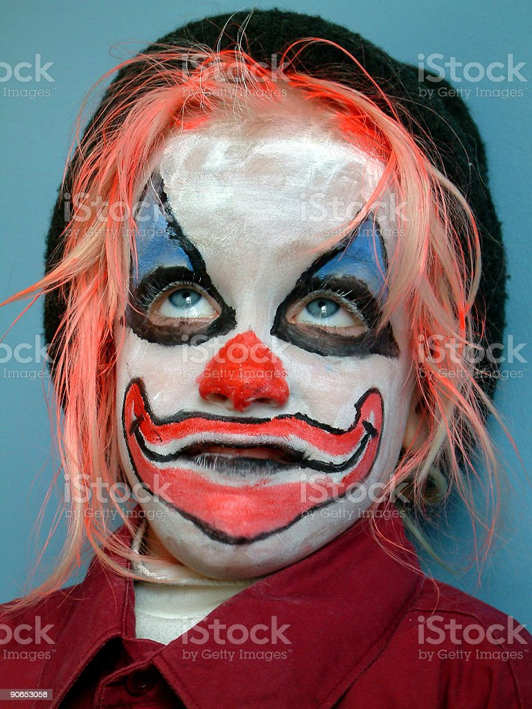 Kid Clown 2 royalty-free stock photo