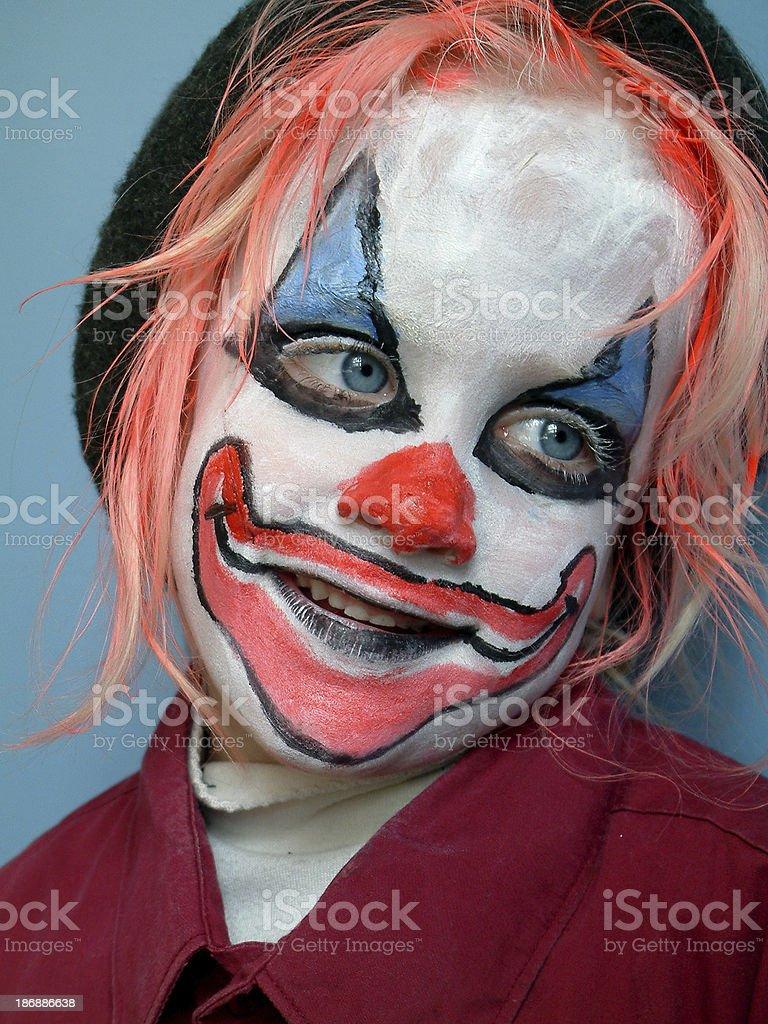 Kid clown 3 royalty-free stock photo