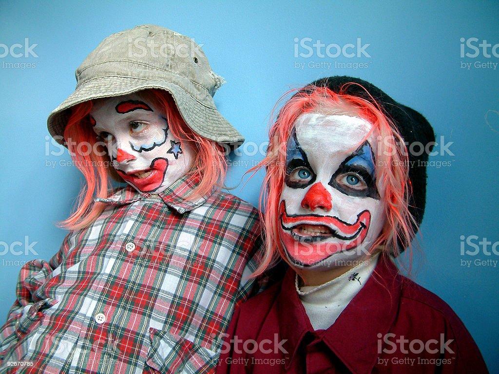 Kid Clowns 2 royalty-free stock photo