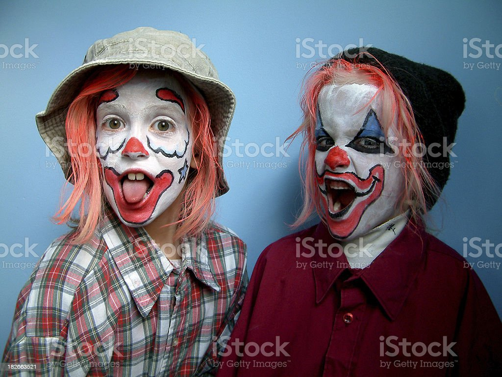 Kid Clowns 4 stock photo