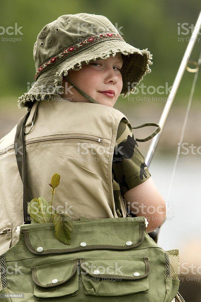 kid fishing royalty-free stock photo