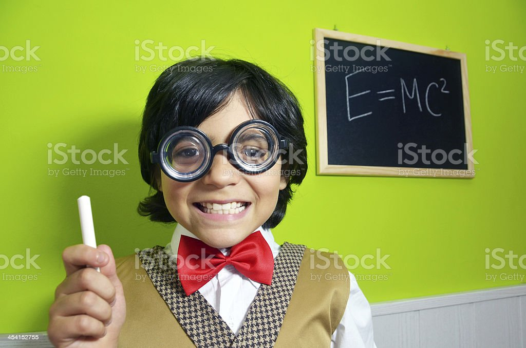 Kid Genius stock photo
