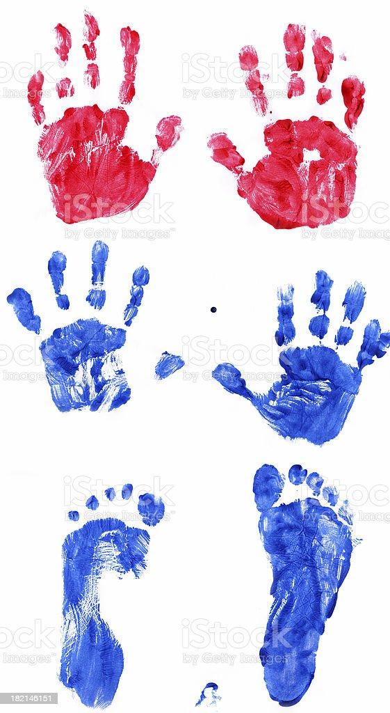 Kid Handprints stock photo