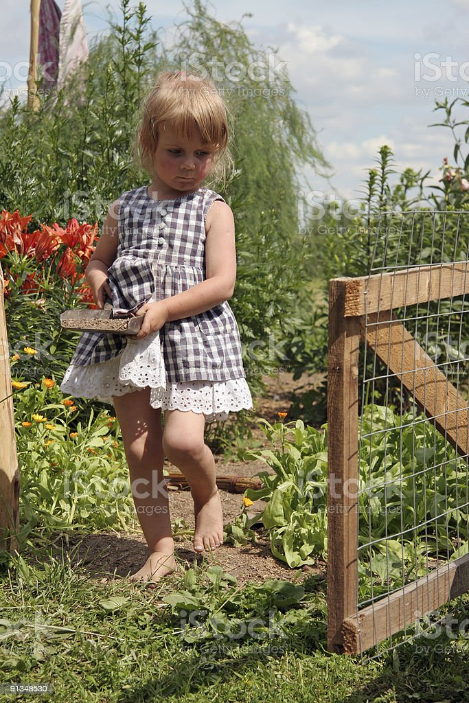 kid in country stock photo