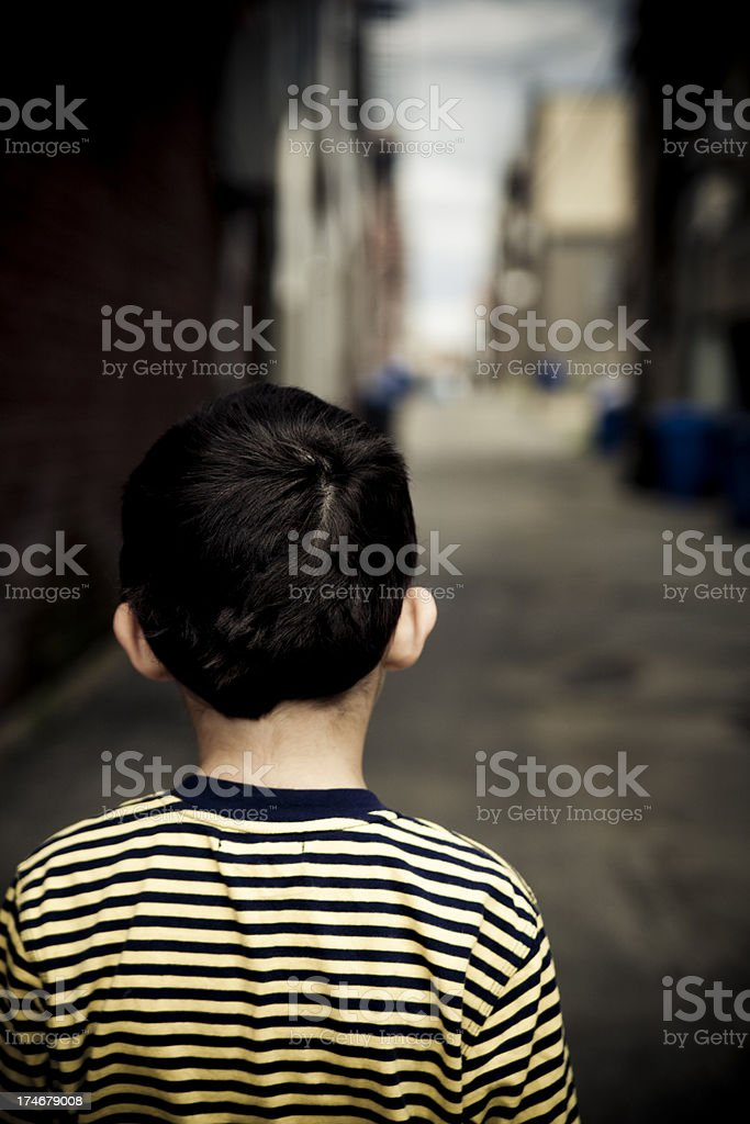 Kid in front of real life royalty-free stock photo