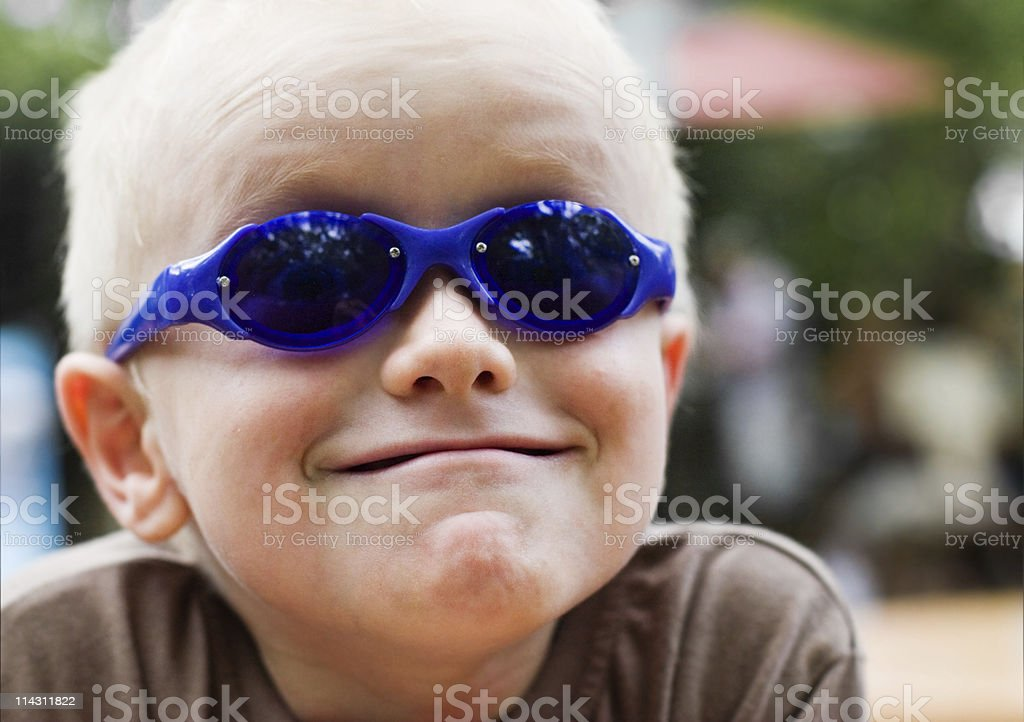 Kid in shades royalty-free stock photo