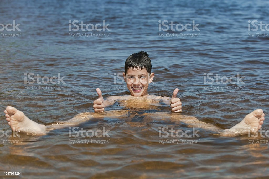 Kid in the sea royalty-free stock photo