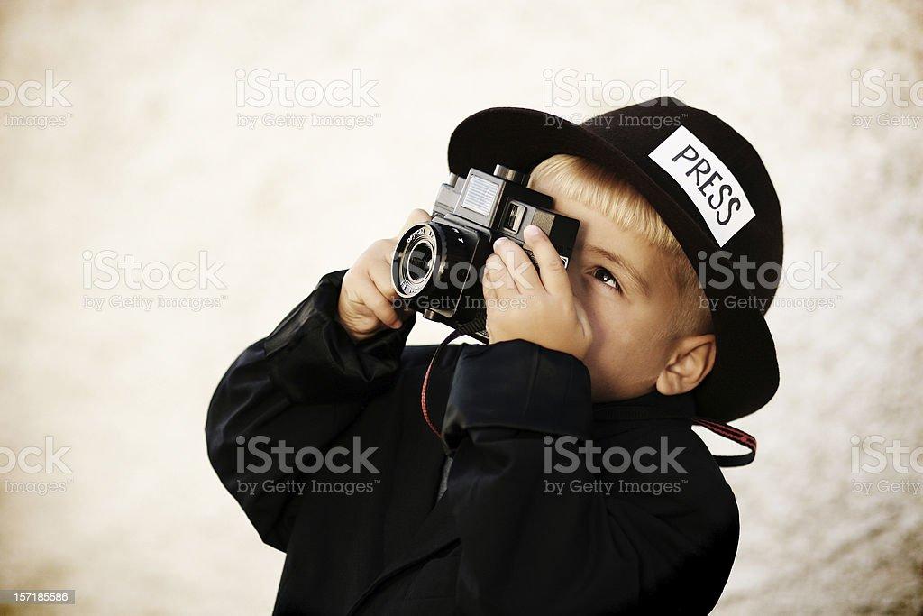 Kid Journalist royalty-free stock photo