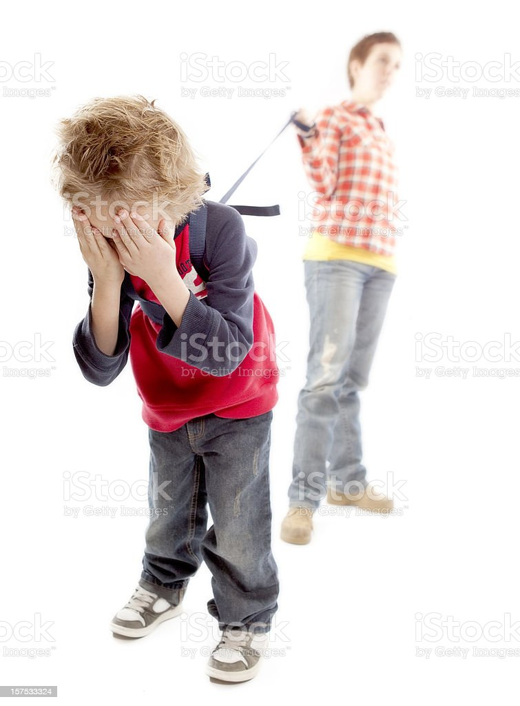 Kid Leash royalty-free stock photo