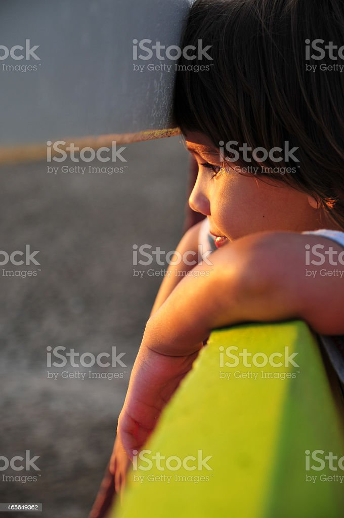 Kid looking stock photo