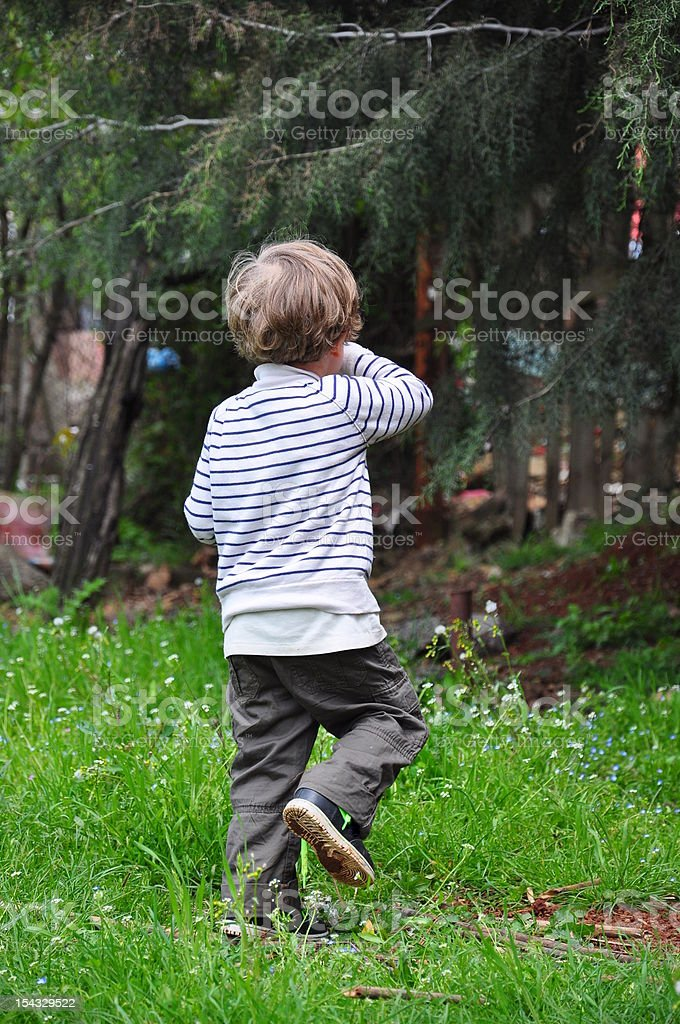 kid on grass royalty-free stock photo