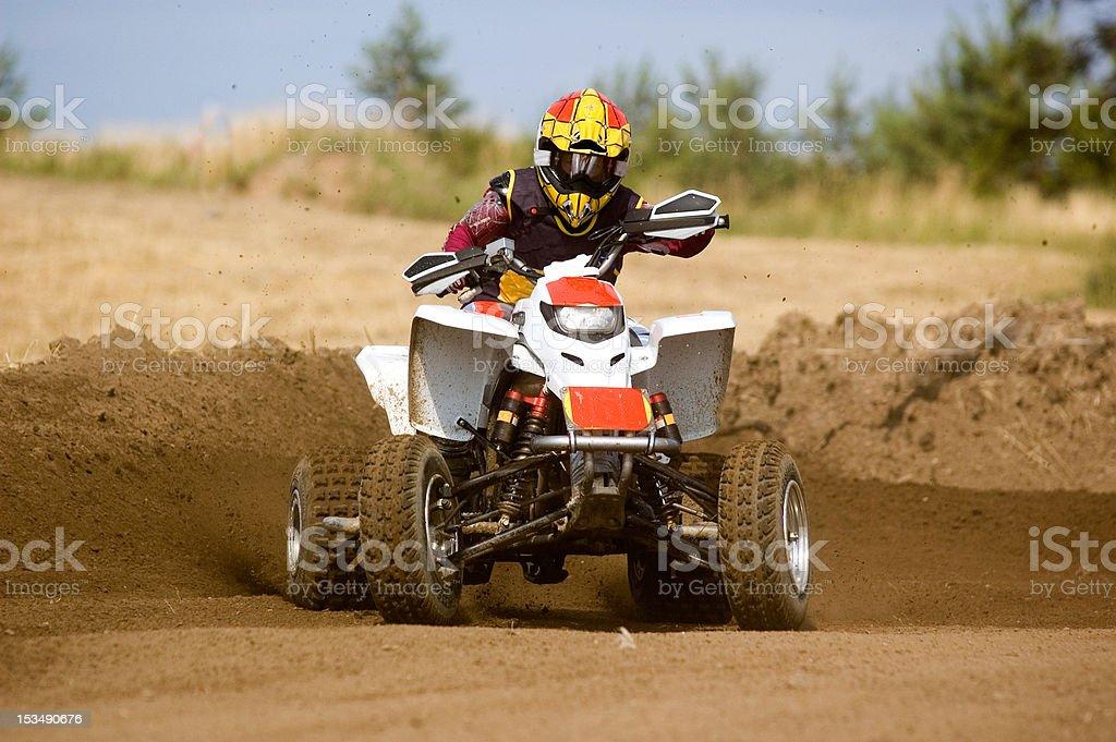 Kid on Quadbike. royalty-free stock photo