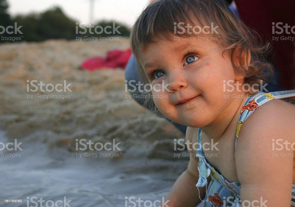 Kid On the Beach royalty-free stock photo