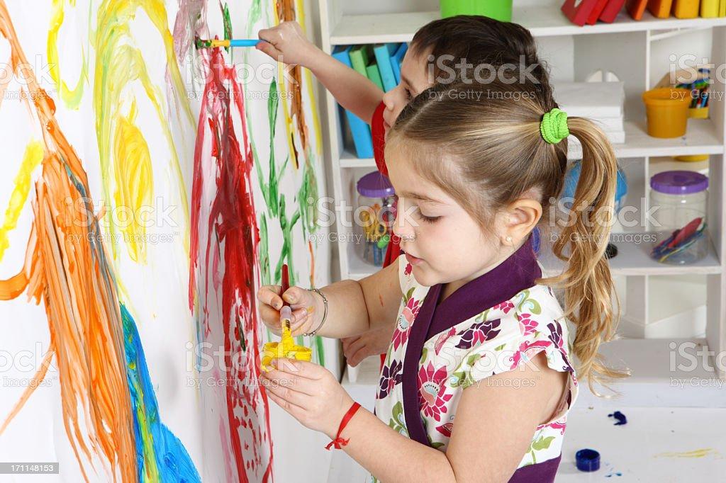 kid painting ideas royalty-free stock photo