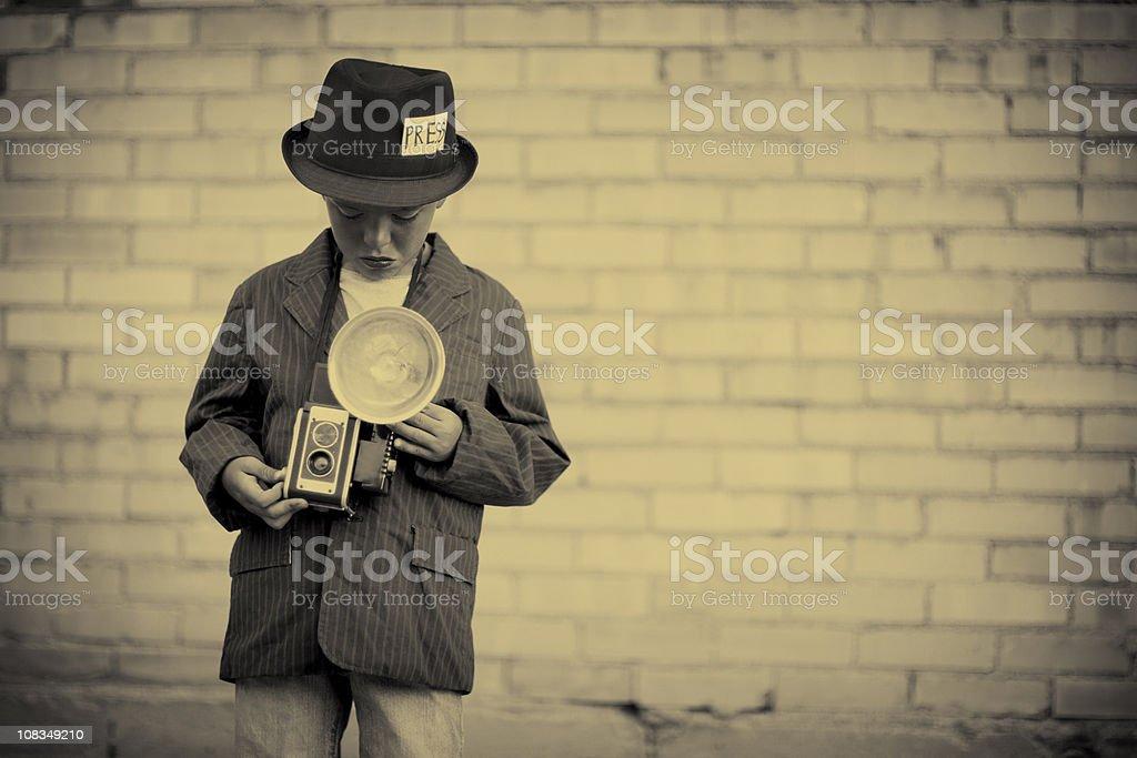 Kid Photojournalist royalty-free stock photo