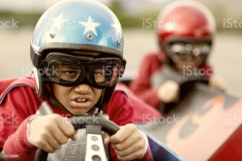 Kid Racer stock photo