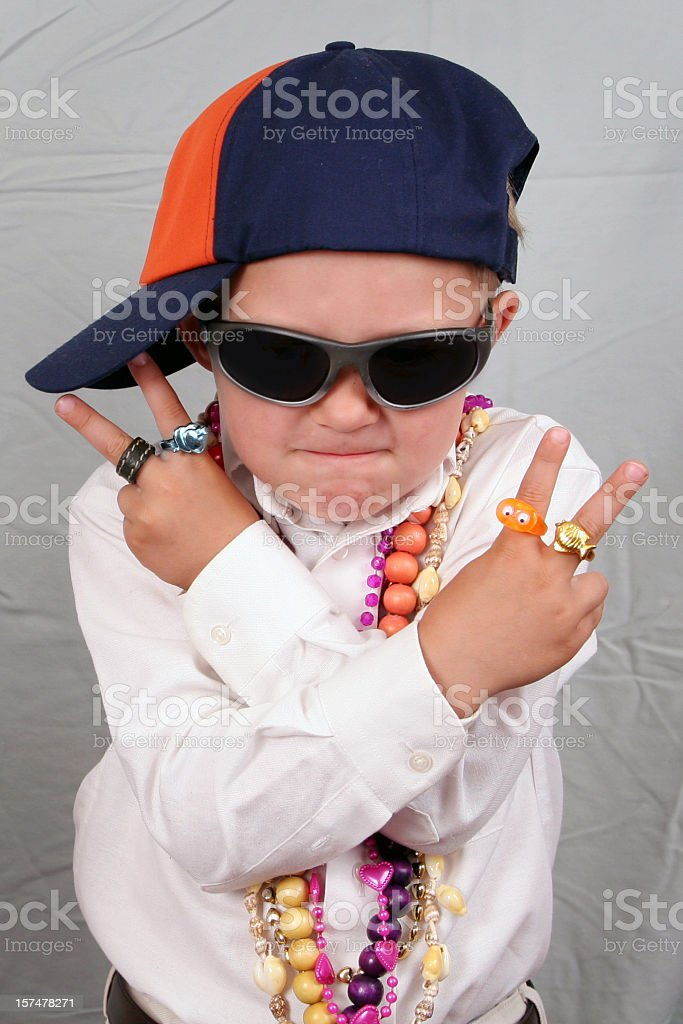 Kid rapper royalty-free stock photo