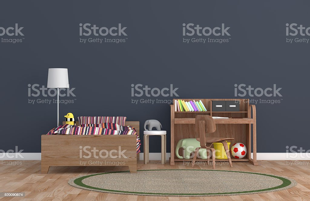 kid room Interior 3d rendering image stock photo