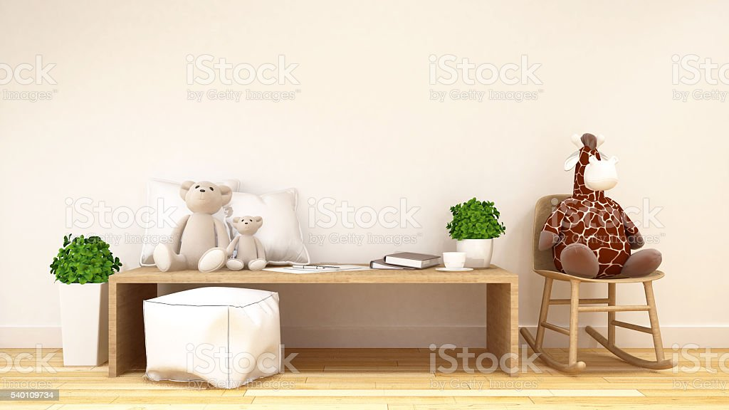 kid room or family room-3d rendering stock photo