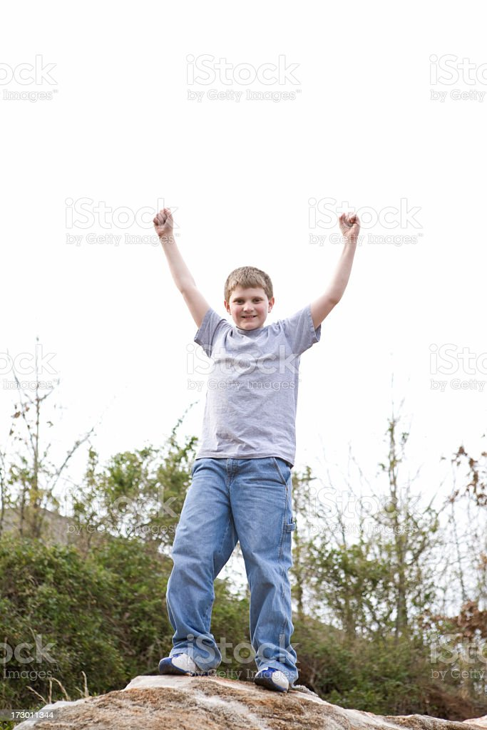 Kid Showing Success stock photo