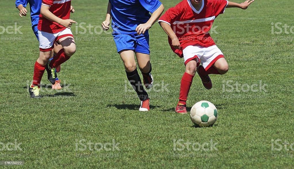kid soccer match royalty-free stock photo