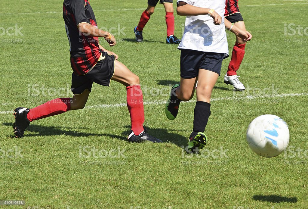 Kid soccer stock photo