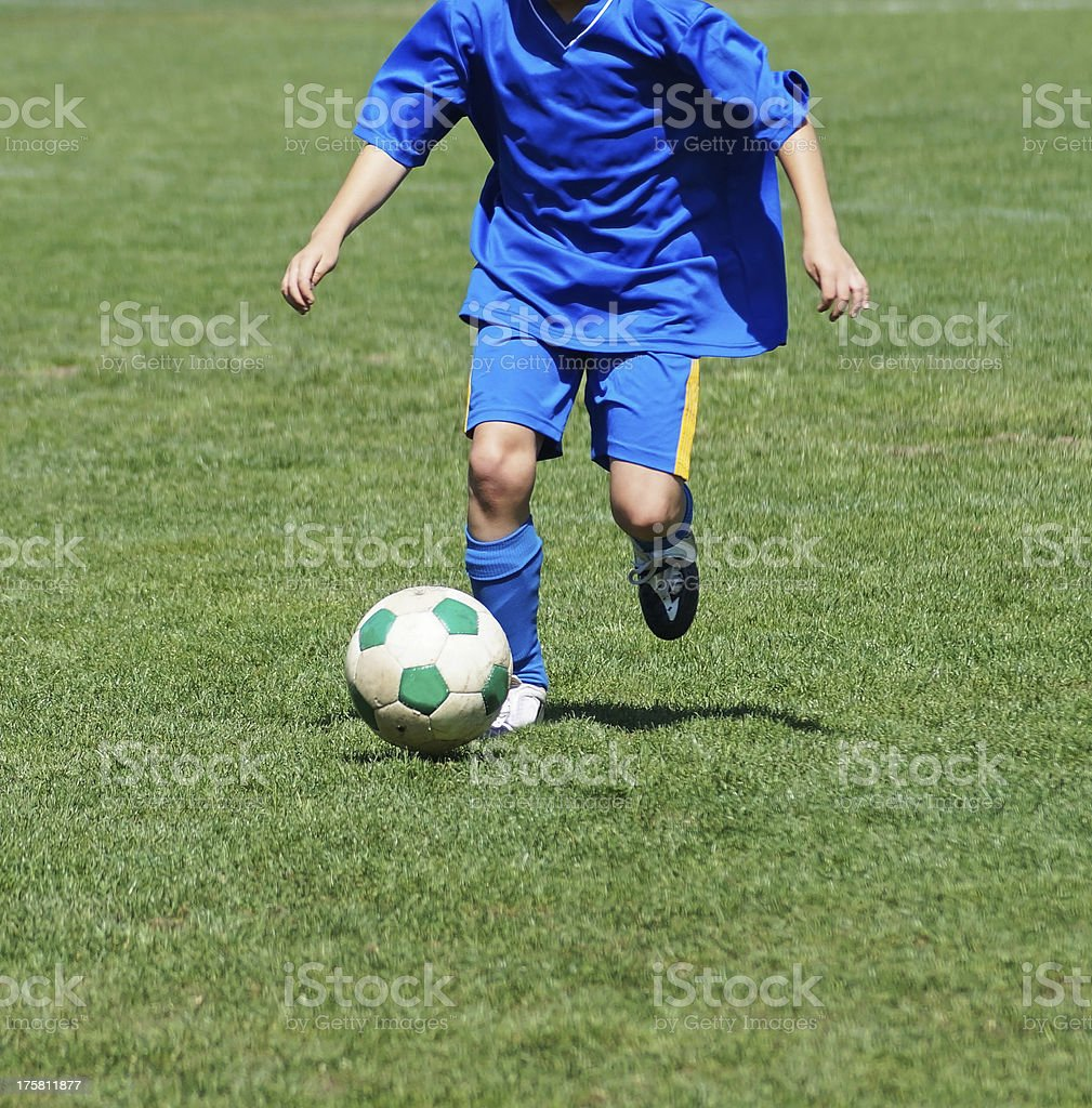 kid soccer player royalty-free stock photo