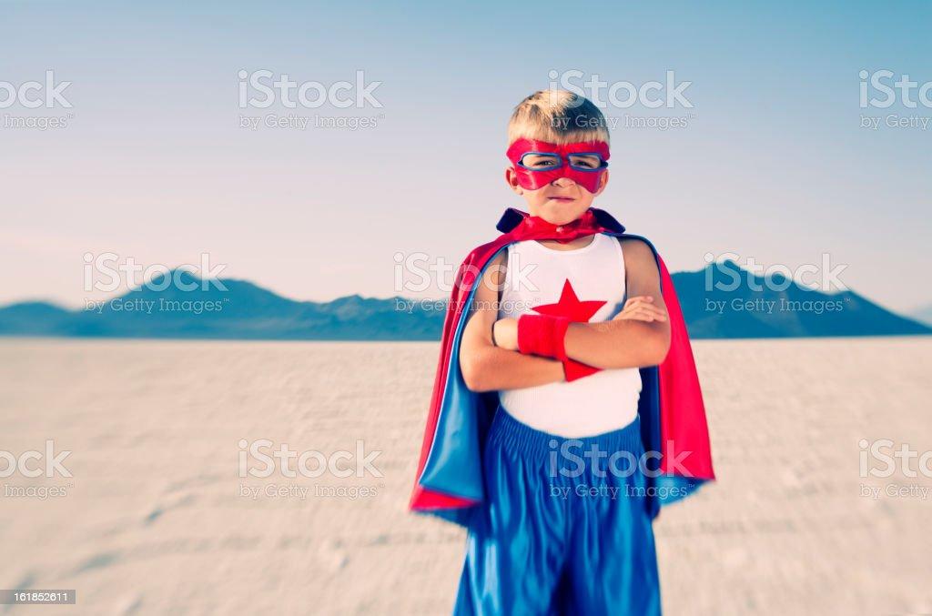 Kid Superhero royalty-free stock photo